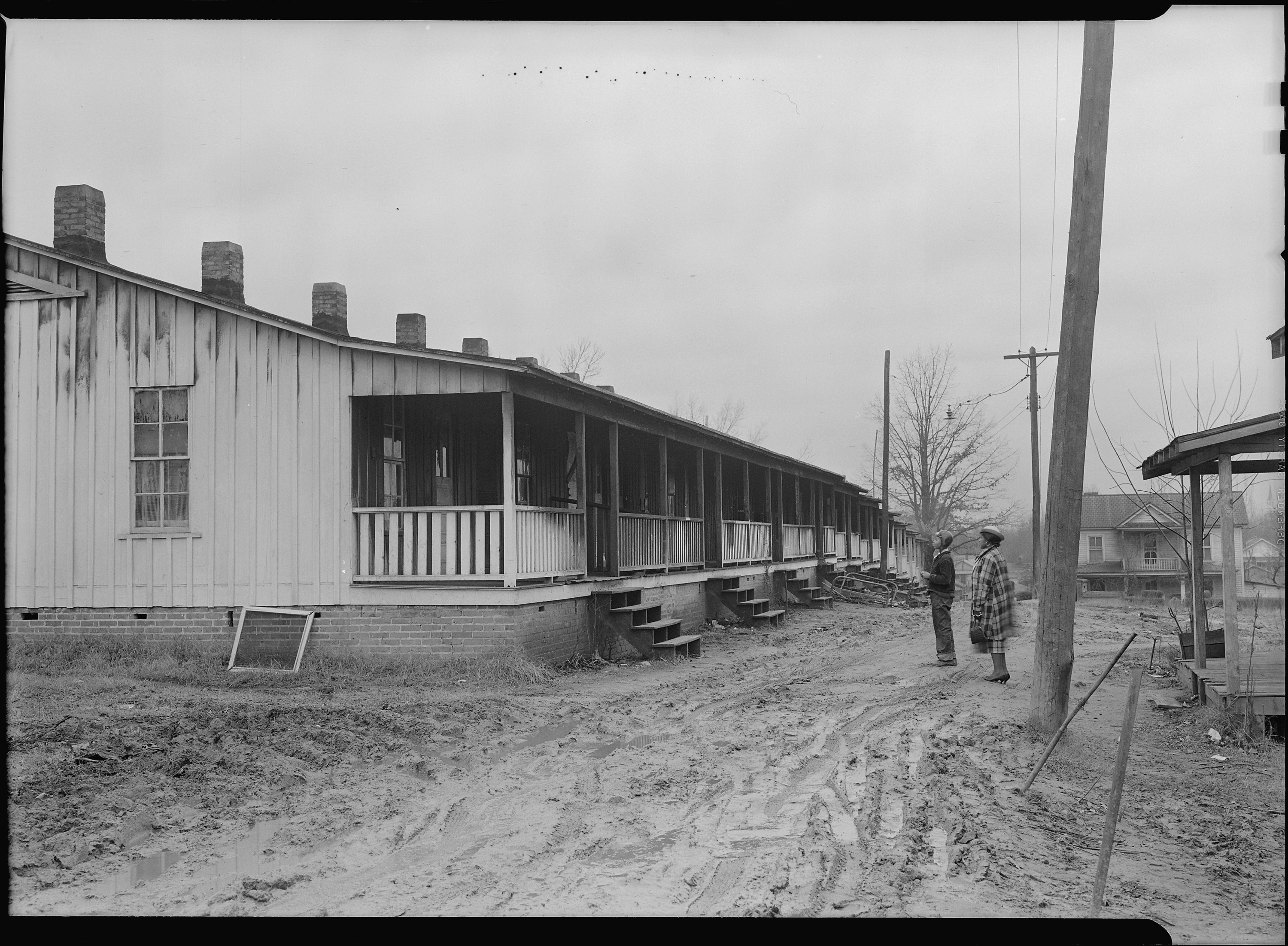 File High Point North Carolina Housing Row Of Shacks Occupied By Colored Textile And