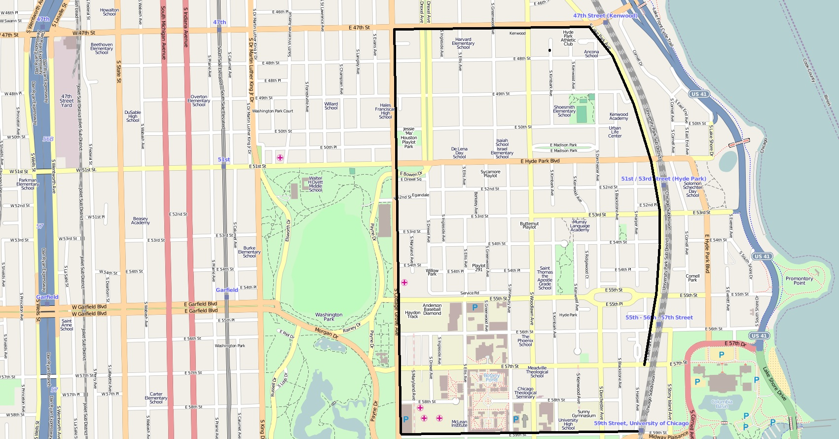 Hyde ParkKenwood Historic District Wikiwand - Kenwood chicago map