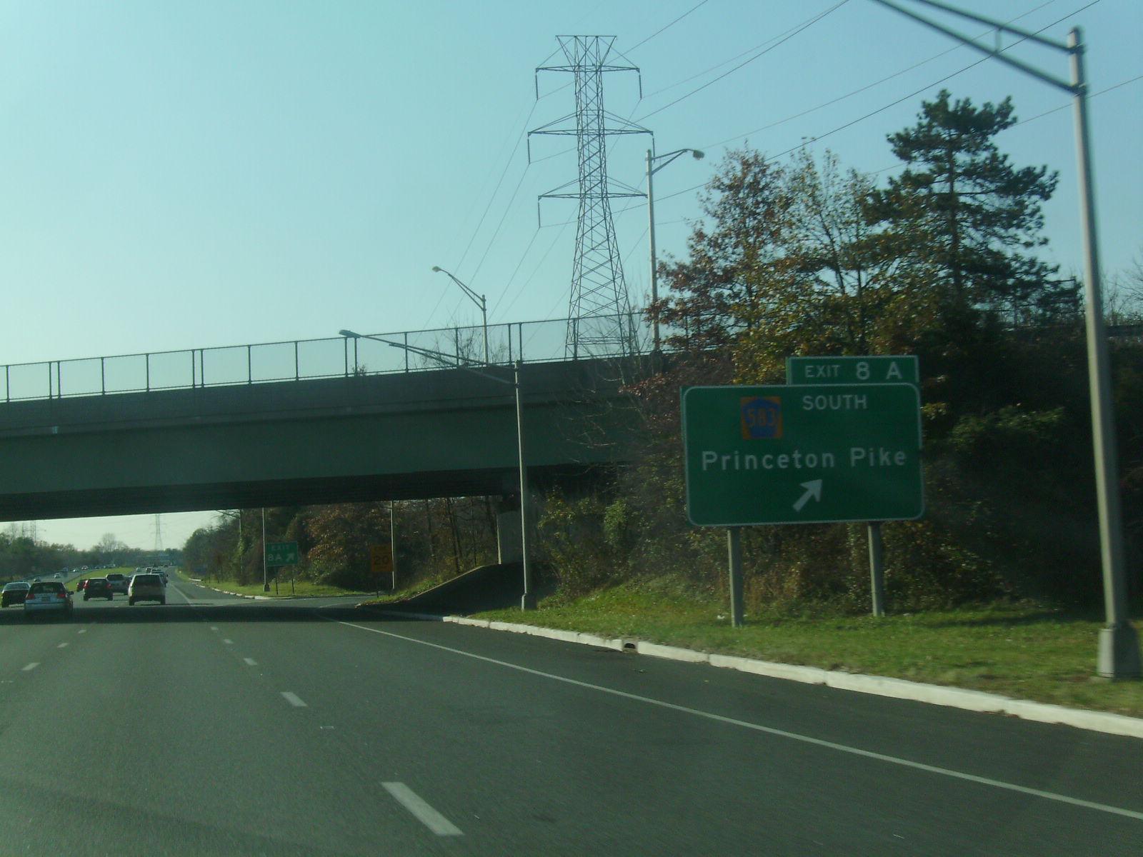 Depiction of Interestatal 95 en Nueva Jersey