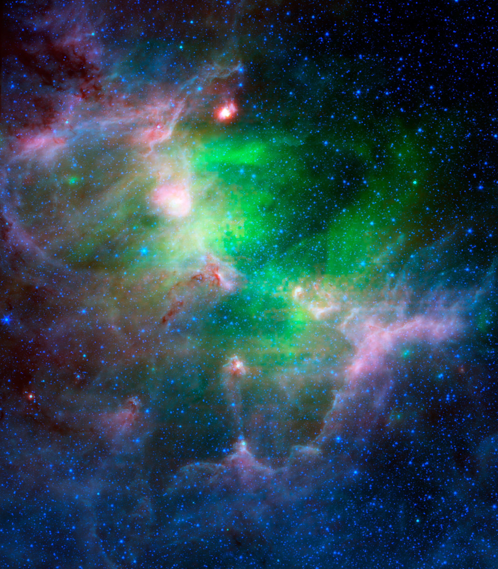 Green And Purple Nebula - Pics about space
