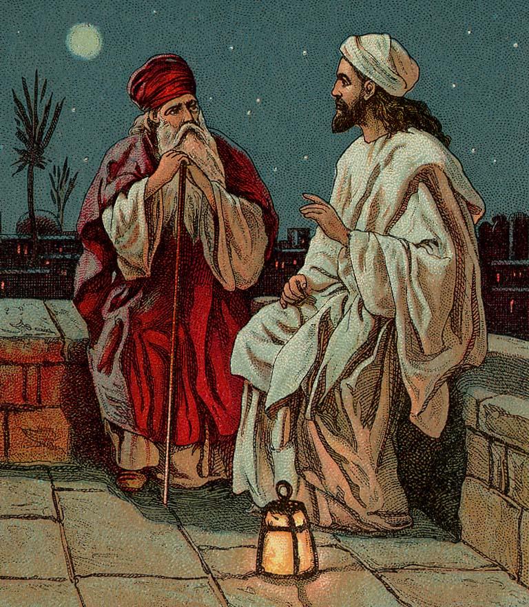 Jesus und Nicodemus