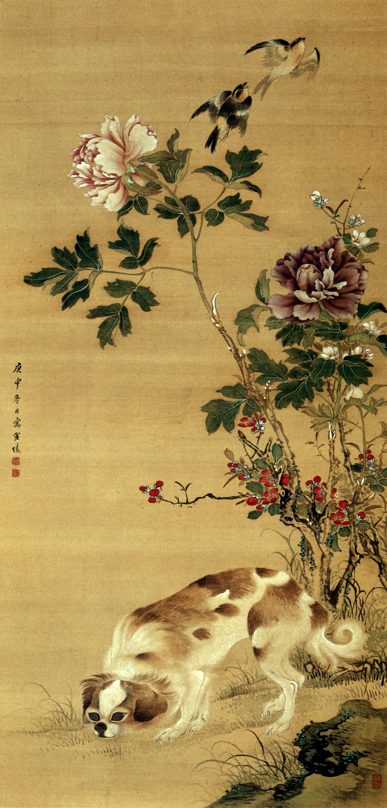 The ninja in japanese art dr boli s celebrated magazine for Japanese watercolor paintings
