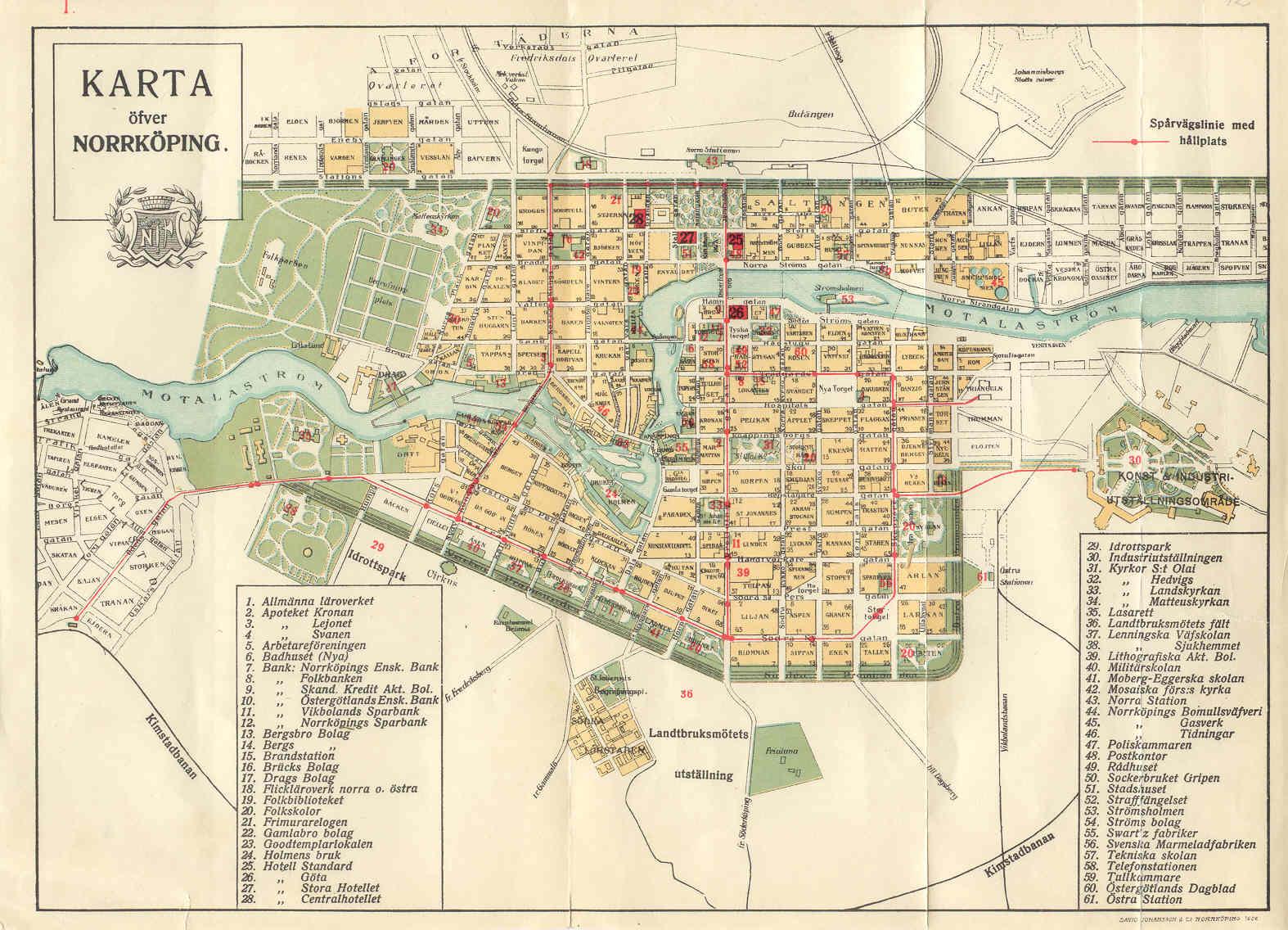 norrköping karta Fil:Karta öfver Norrköping 1906. – Wikipedia norrköping karta