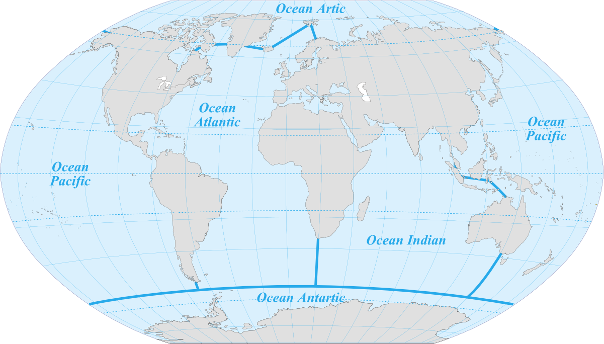 The Five Oceans Maps On The Web Pinterest Ocean - Five oceans