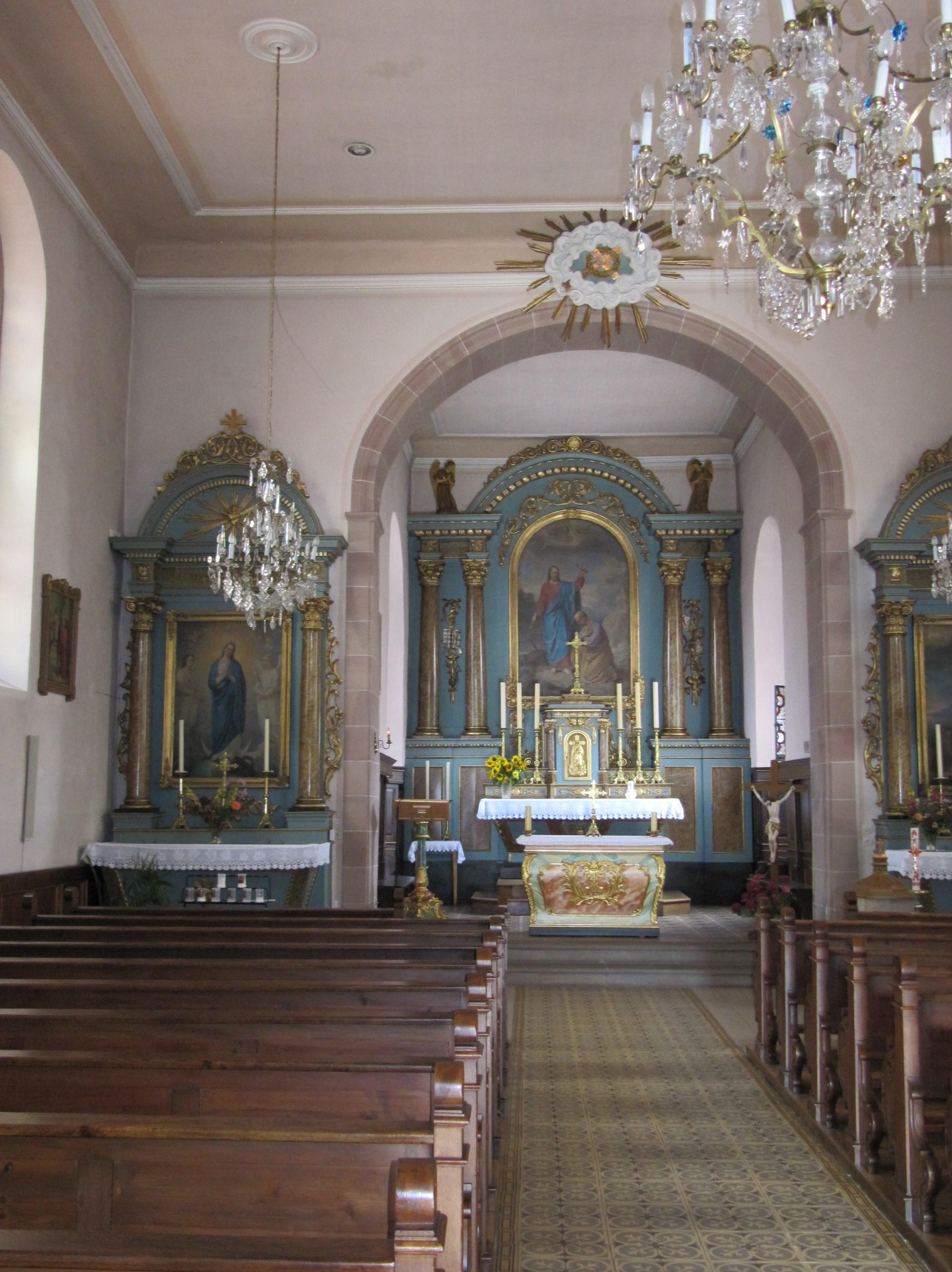 File littenheim glise saint pierre int rieur jpg for Interieur eglise