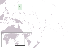 map showing location of Saipan
