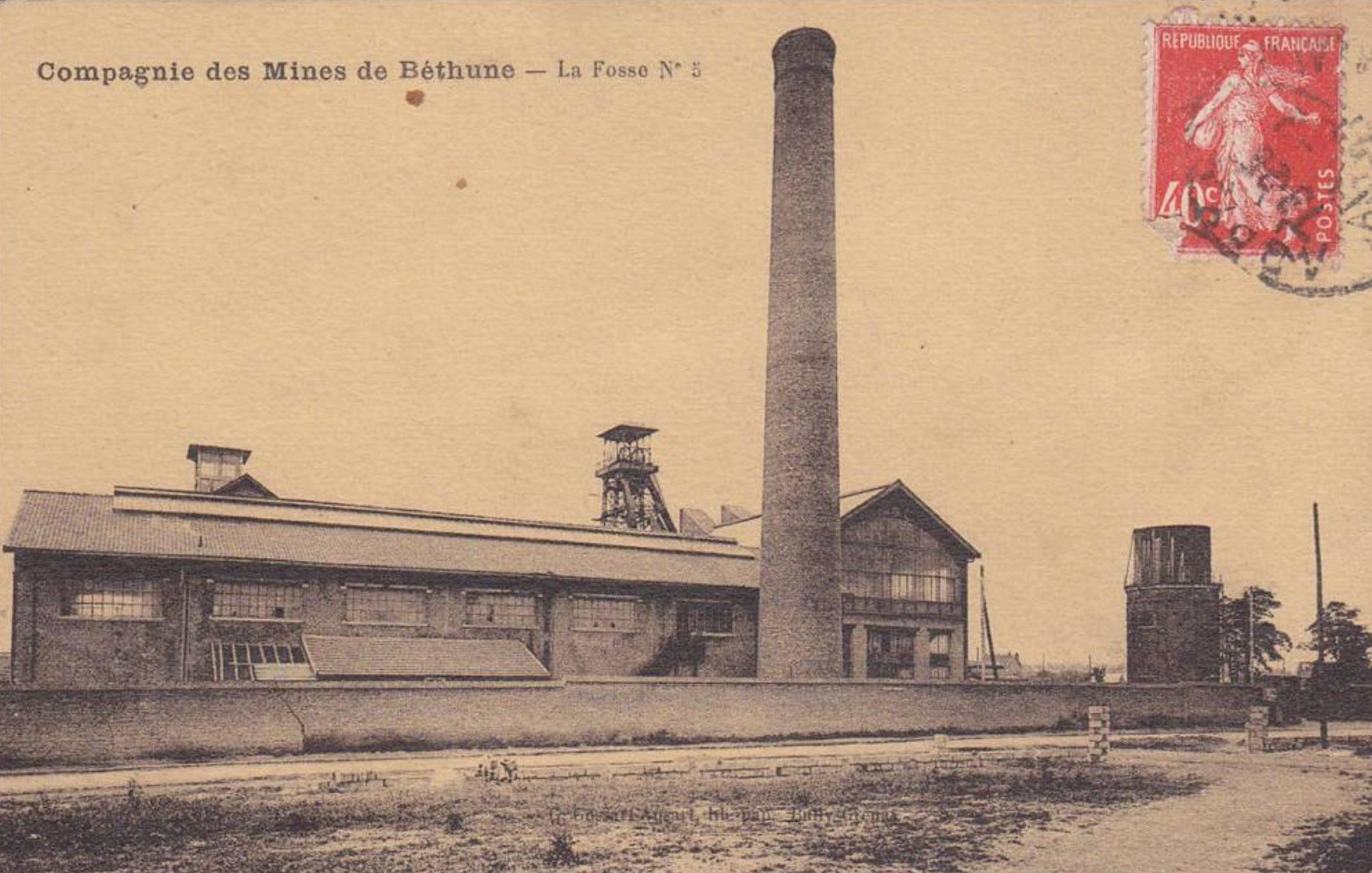 La fosse no5 - 5 bis vers 1927.