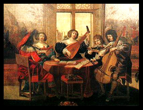 Музыканты, картина Абрахама Боссе 1635 года