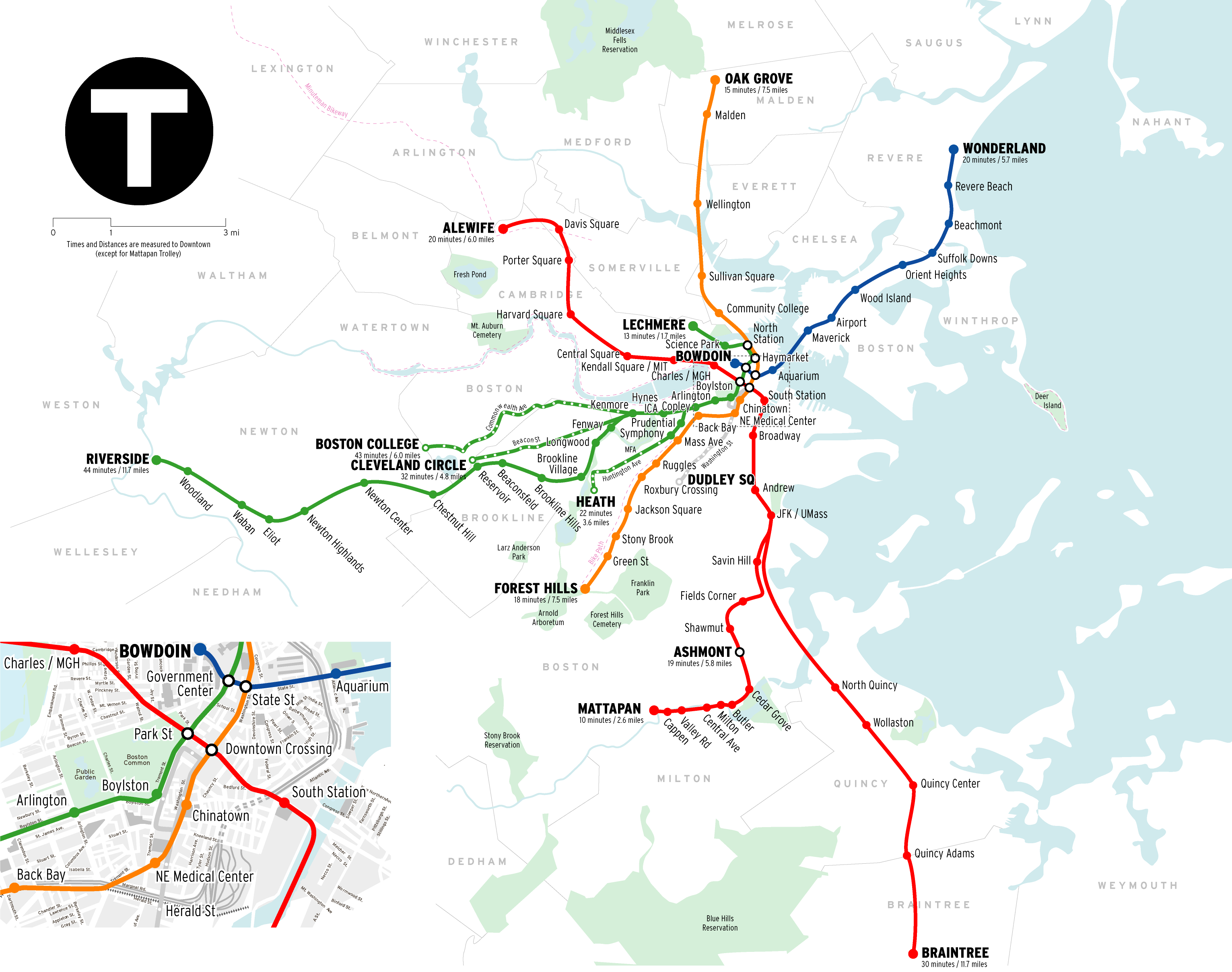 Map Of Boston Subway File:MBTA Boston subway map.png   Wikimedia Commons