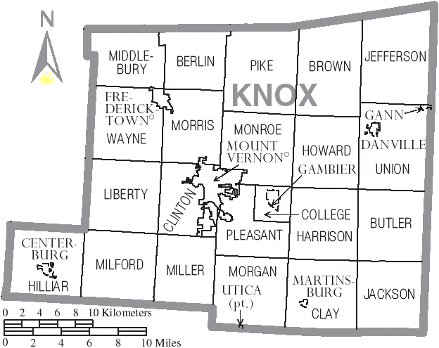Knox County Ohio Township Map File:map of Knox County Ohio