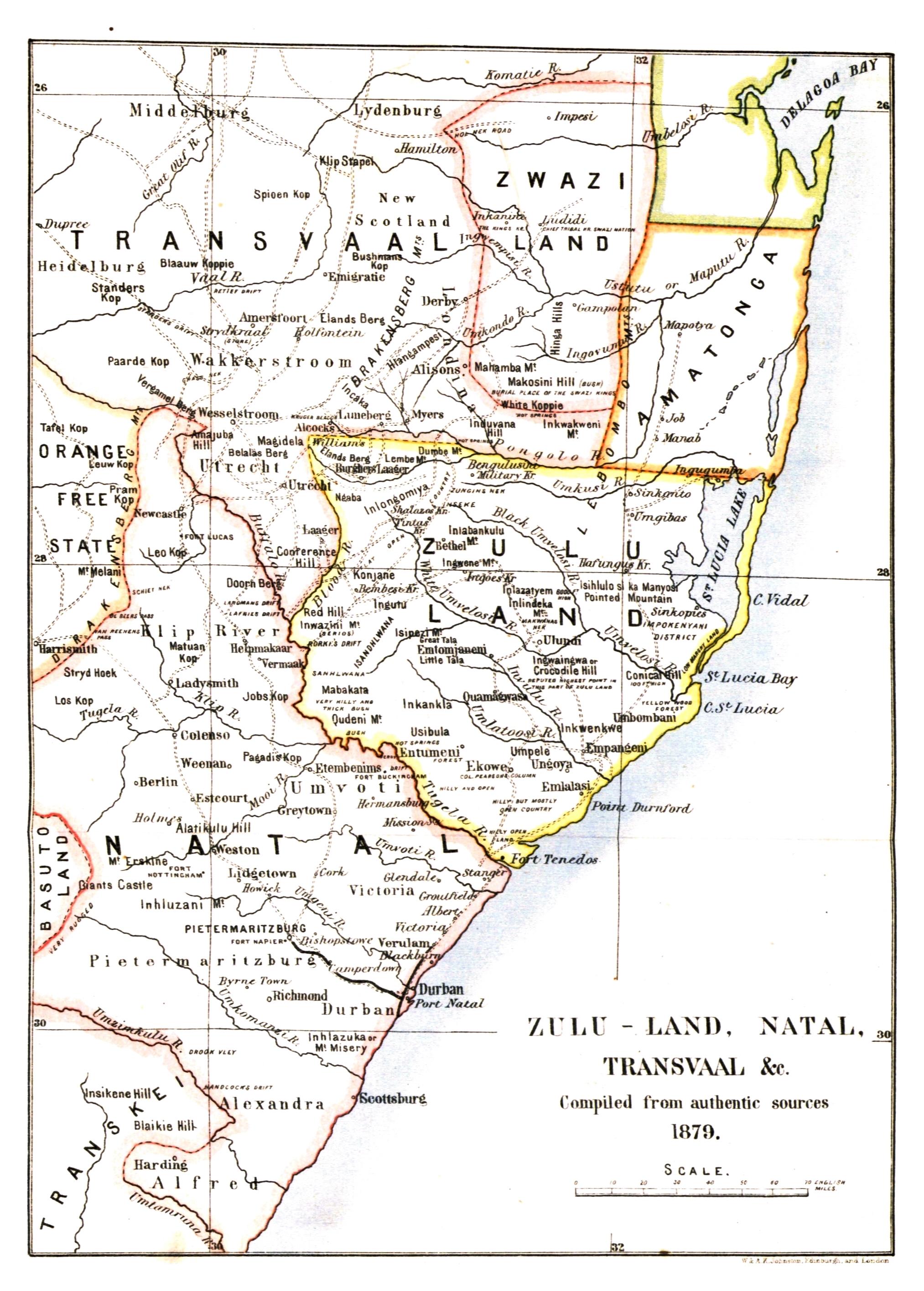 File:Map of Zululand, Natal, Transvaal (1879).   Wikimedia Commons