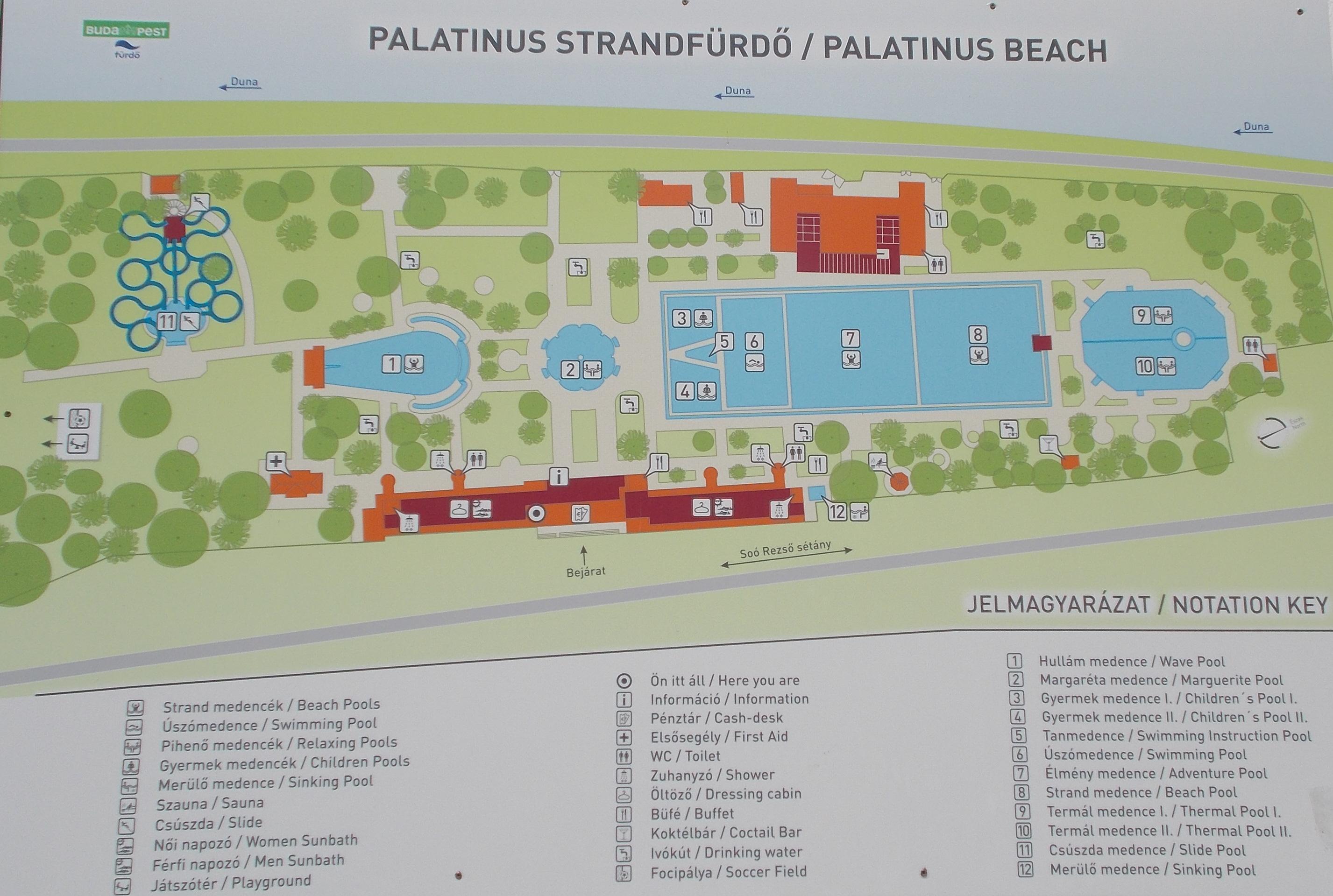 File:Map of the Palatinus Bath. - Margaret Island, Budapest, Hungary ...