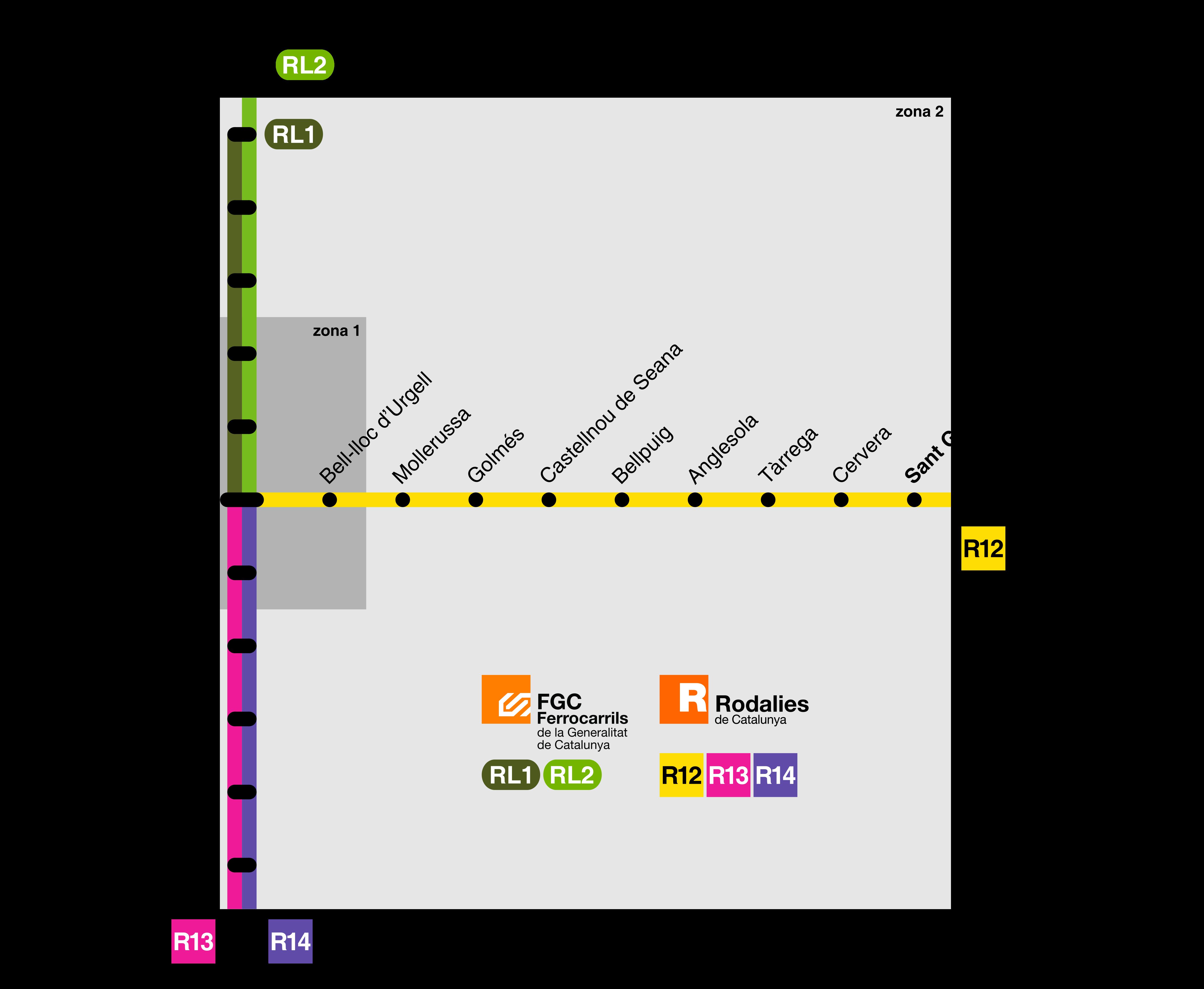 Mapa Renfe Regional Catalunya.Cercanias De Lerida Wikipedia La Enciclopedia Libre