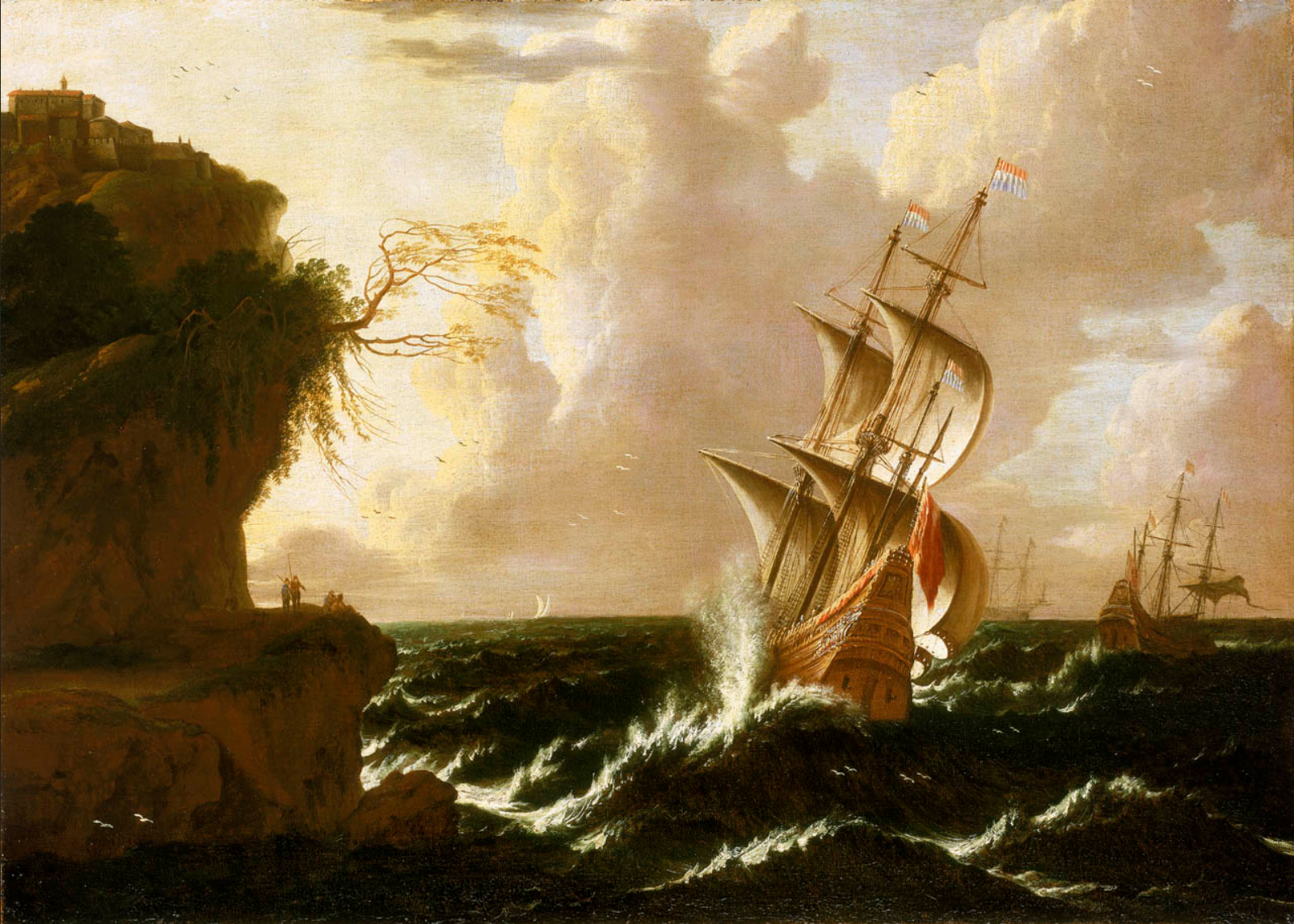 Matthieu van Plattenberg - A Dutch Ship in a Storm