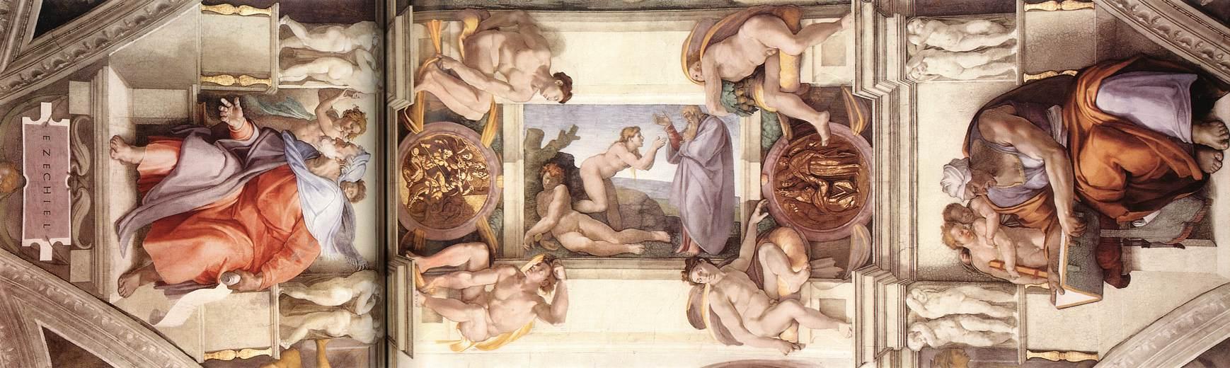 File Michelangelo Sistine Chapel Ceiling Bay 5 Jpg