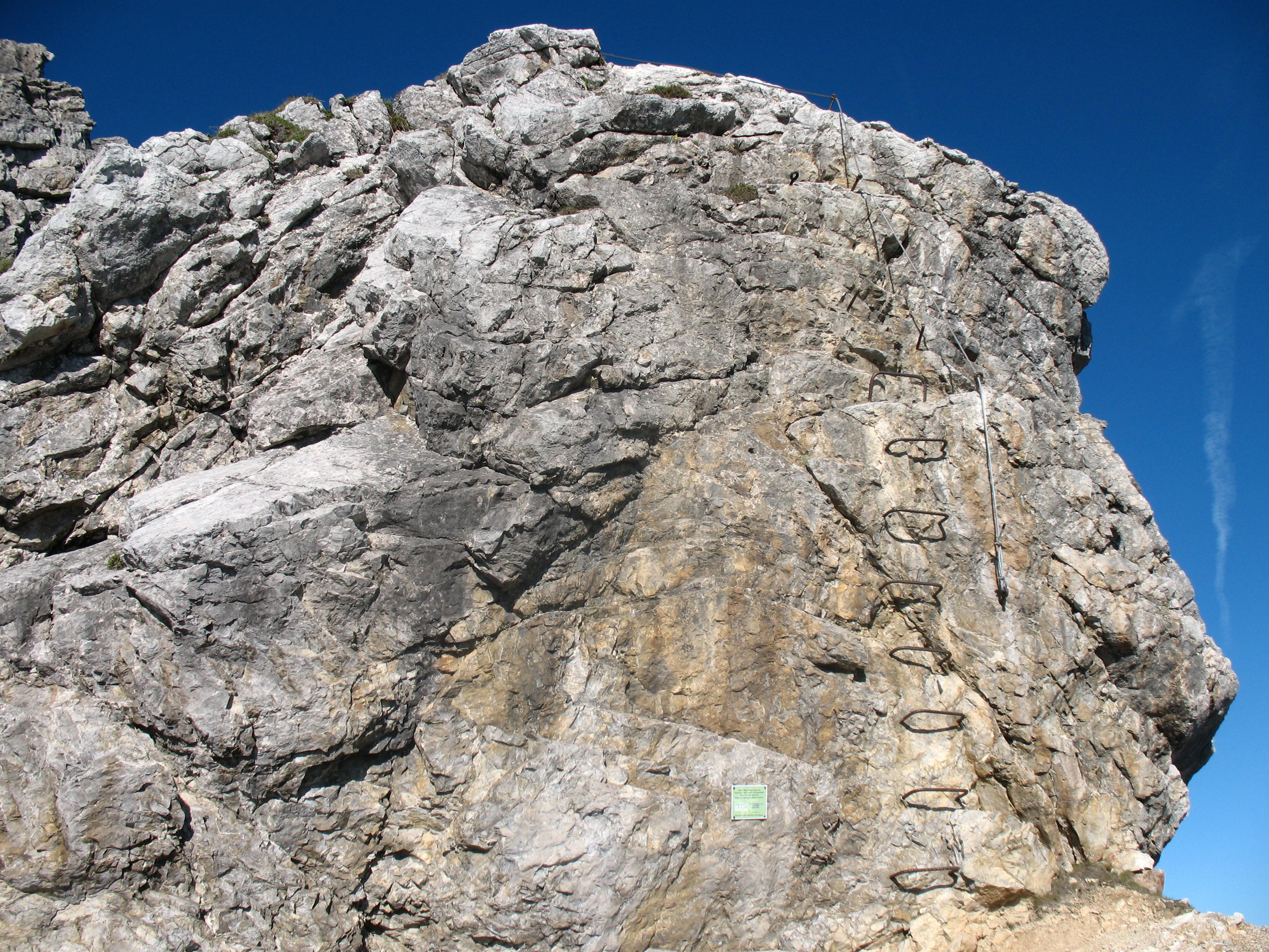 Klettersteig Mindelheimer : Datei mindelheimer klettersteig einstieg g u wikipedia