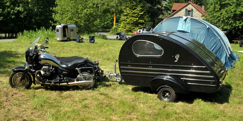 Motorcycle Carrier On Rear Of Caravan Chassis