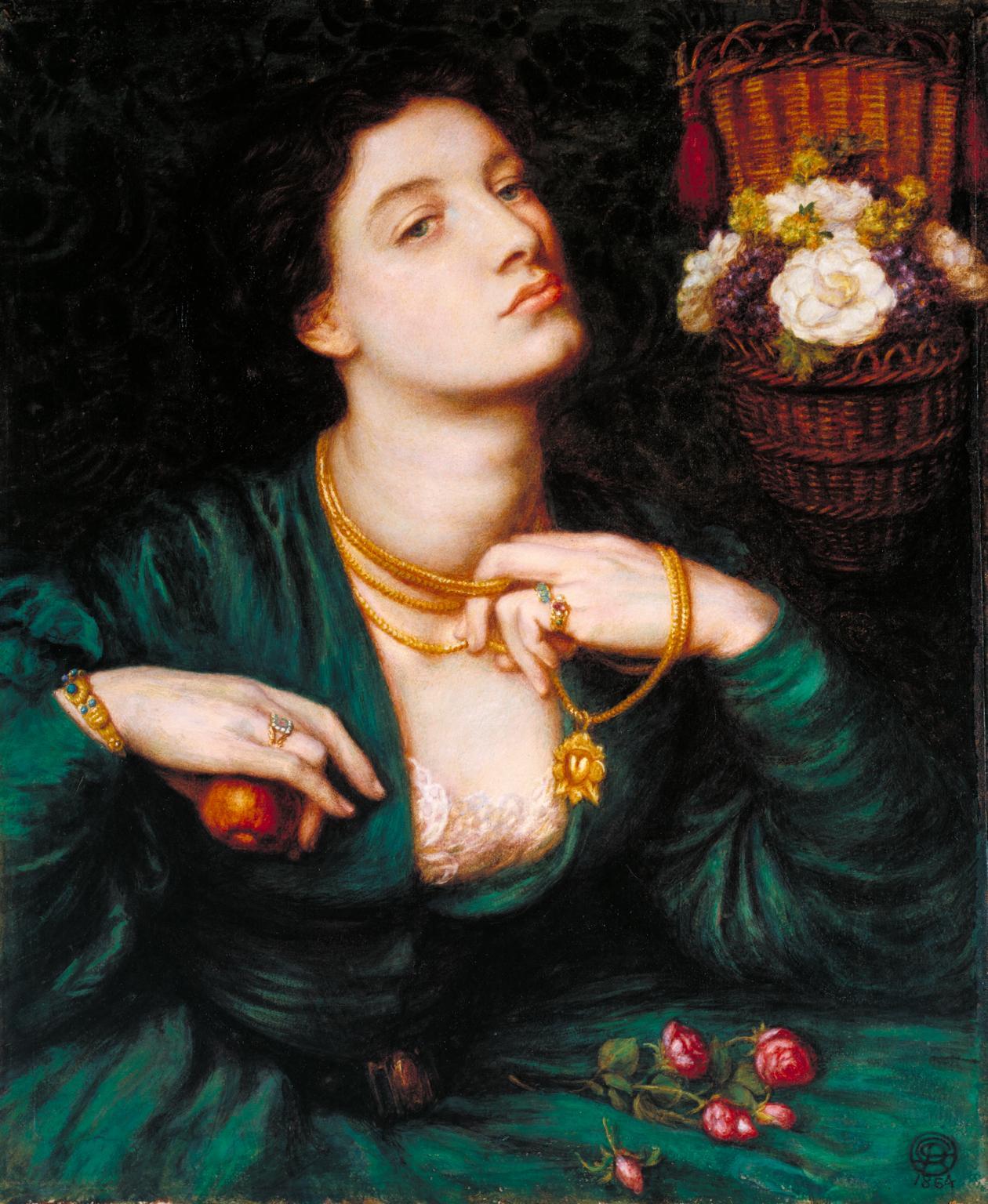 Dante Gabriel Rossetti's Monna Pomona presented by Wiki Commons