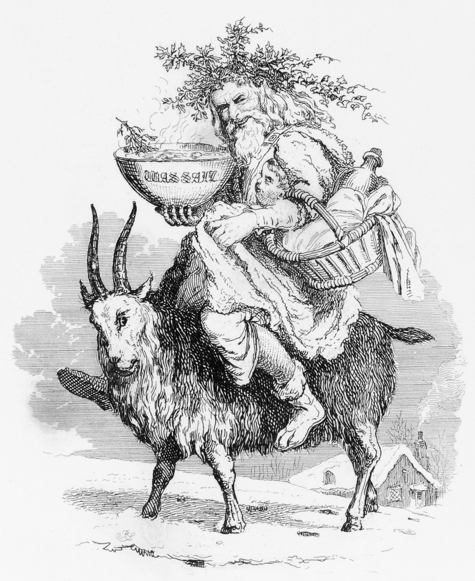 File:Old Christmas riding a goat, by Robert Seymour, 1836.jpg ...