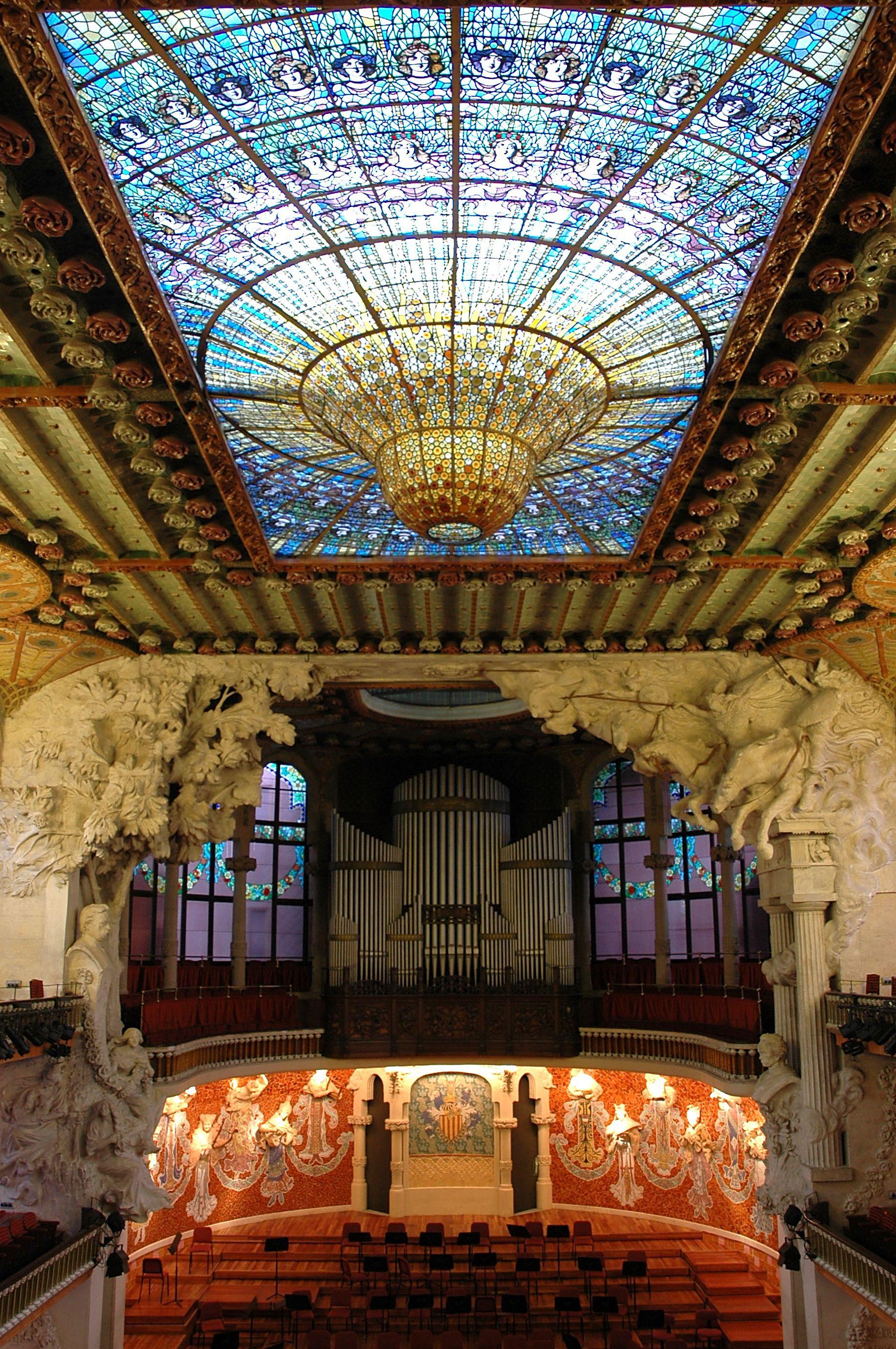 Palau de la m sica catalana viquip dia l 39 enciclop dia lliure - Casa vives gaudi ...