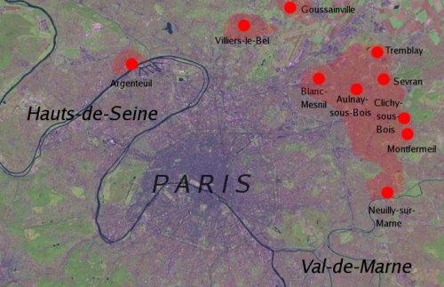 Riots Paris 2007 Areas of Rioting in The Paris