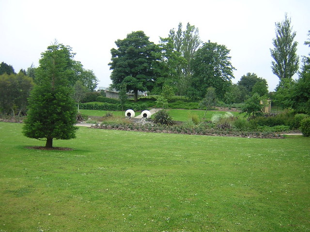 Park with sculptures - geograph.org.uk - 525399