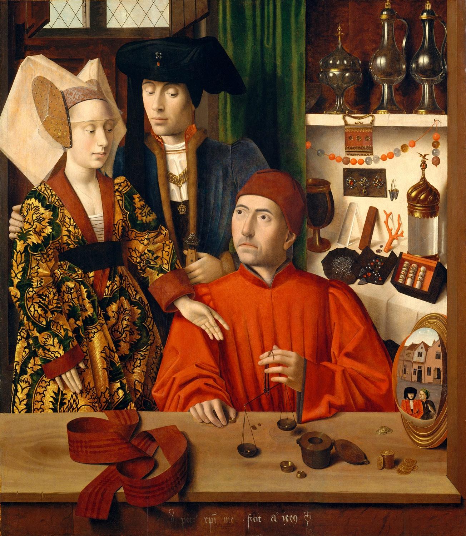 Petrus christus, sant'eligio nella bottega di un orafo 01.jpg