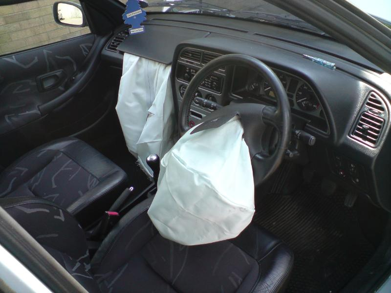 Peugeot Airbags Deployed
