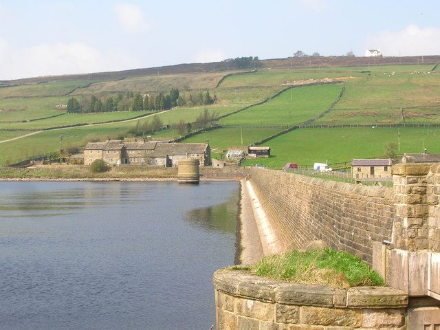 Ponden Dam and Reservoir - geograph.org.uk - 1256496