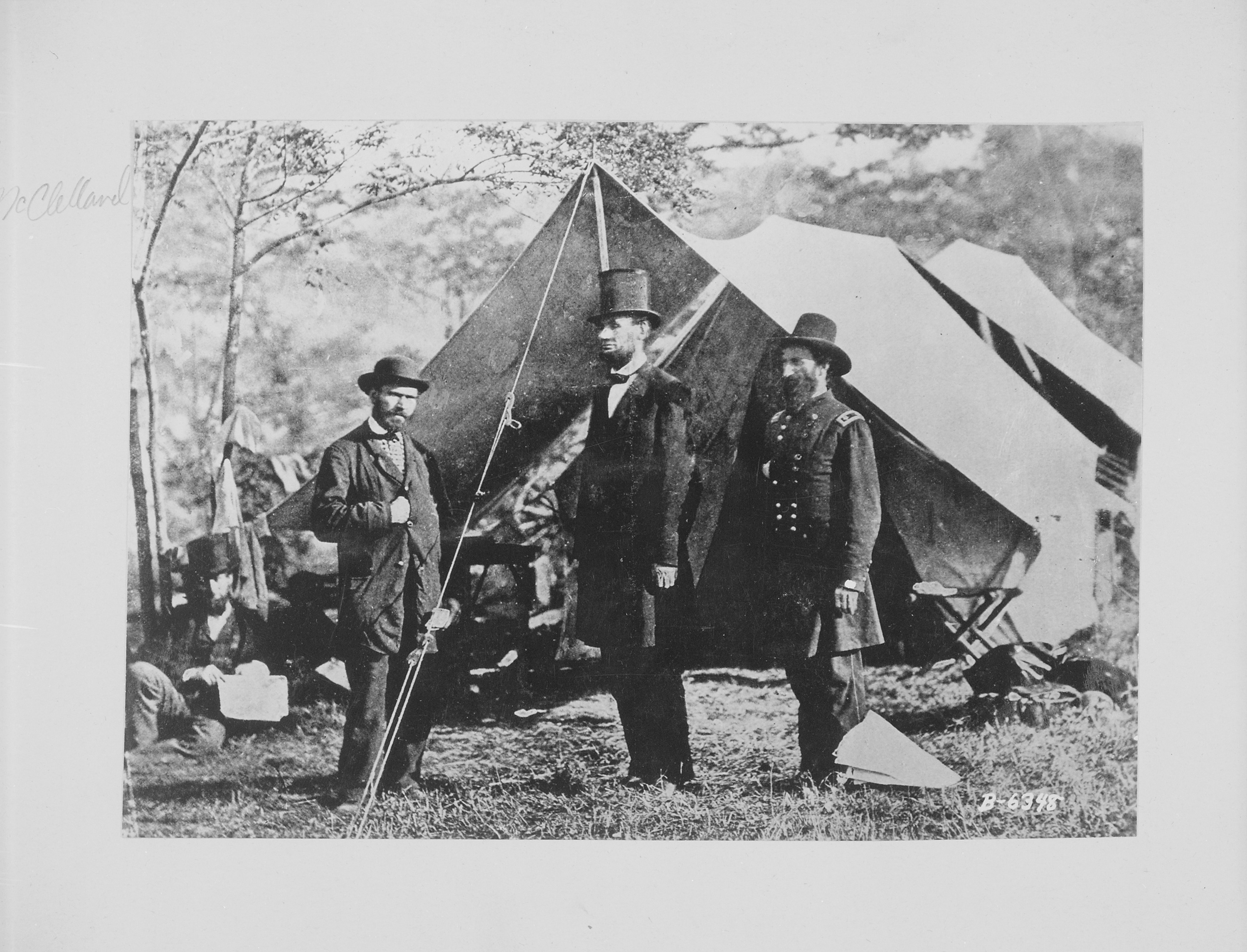 File President Lincoln Major General John A Mcclernand