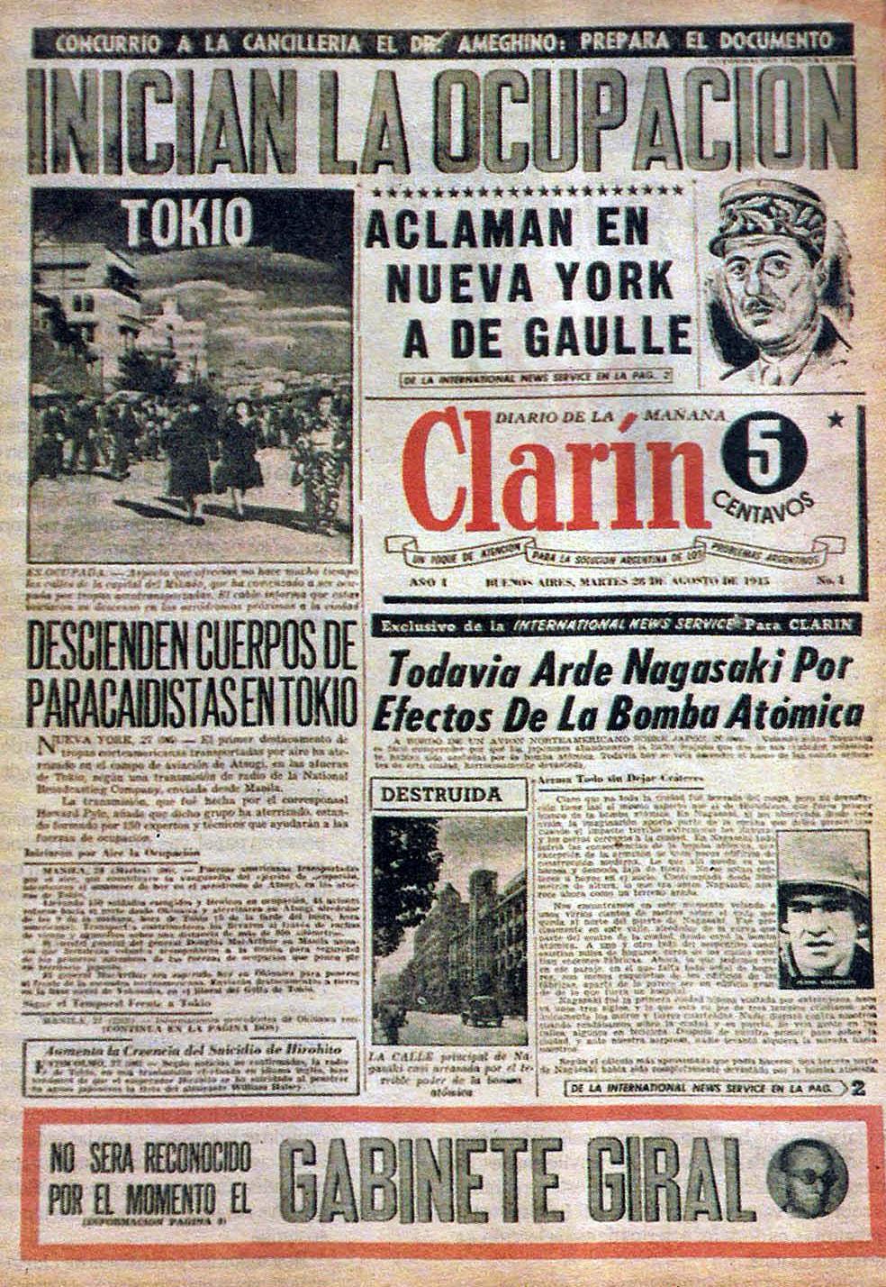 Primera edición del diario argentino Clarín.jpg