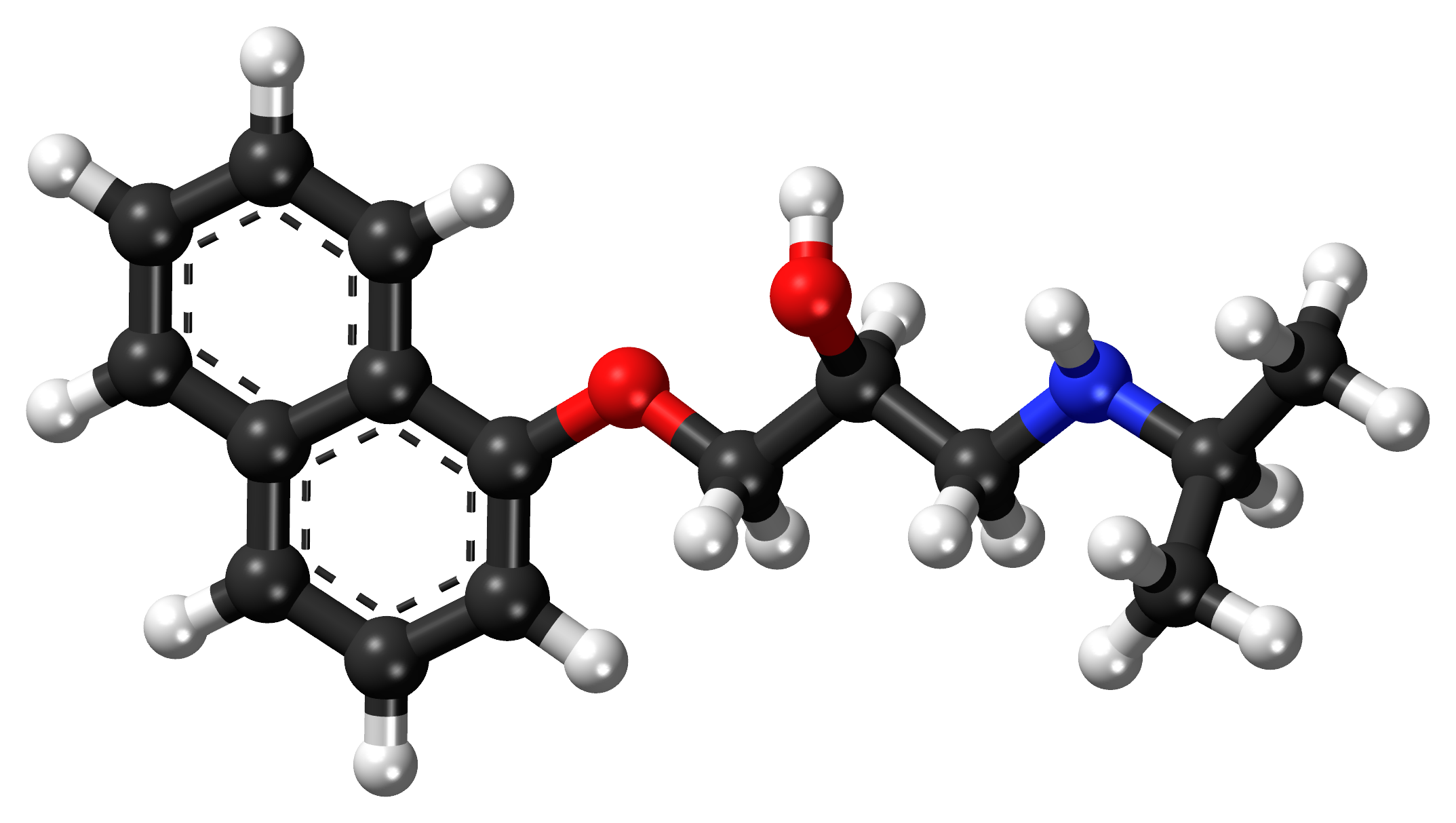File:Propranolol ball-and-stick model.png - Wikimedia Commons
