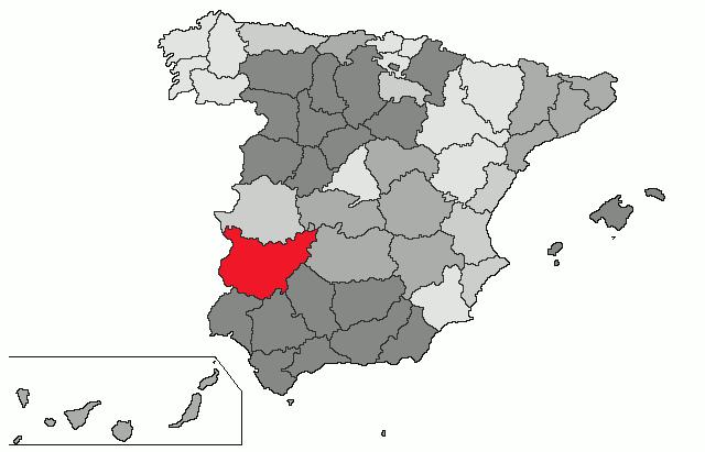 mapa badajoz espanha Badajoz (província) – Wikipédia, a enciclopédia livre mapa badajoz espanha