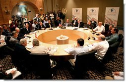 The 2006 meeting of the Security and Prosperity Partnership of North America.