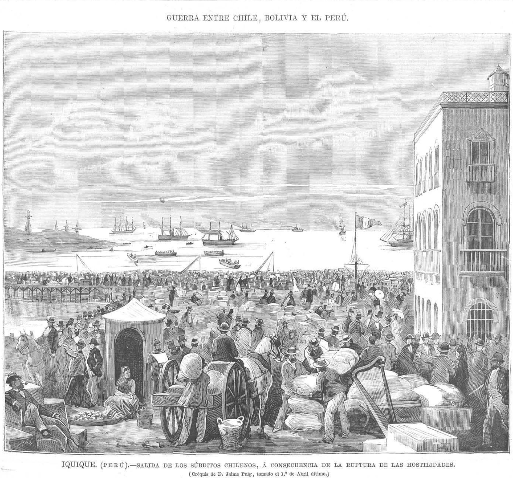 Chileans From Bolivia And Peru In 1879