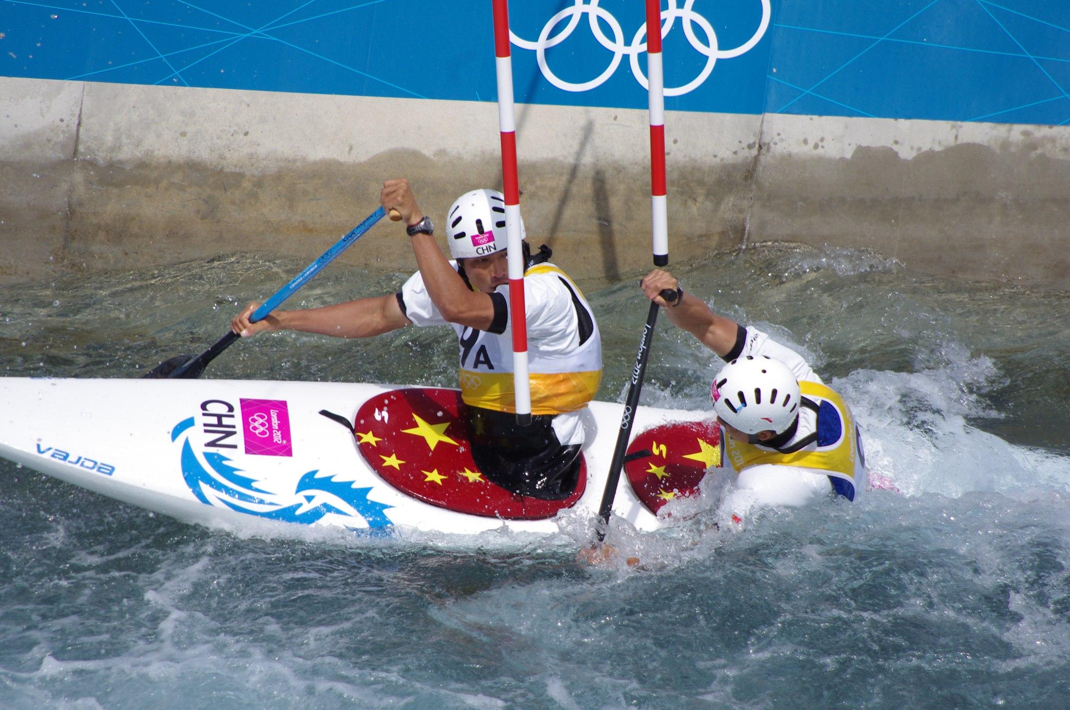 FileSlalom Canoeing 2012 Olympics C2 CHN Hu Minghai And Shu Junrong