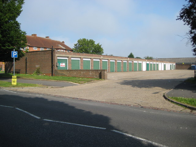 South Oxhey, Garage block off Oxhey Drive - geograph.org.uk - 1384430