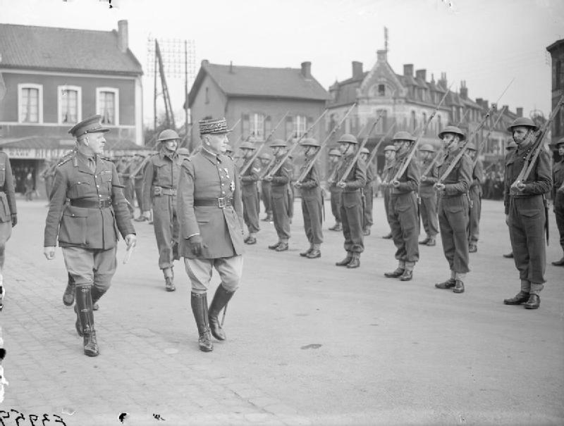 General Georges inspecting the  Royal Inniskilling Fusiliers