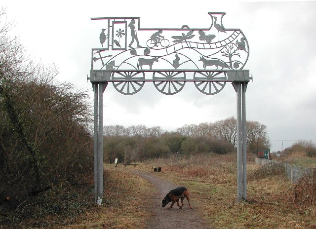 The start of the Strawberry Line - geograph.org.uk - 106569