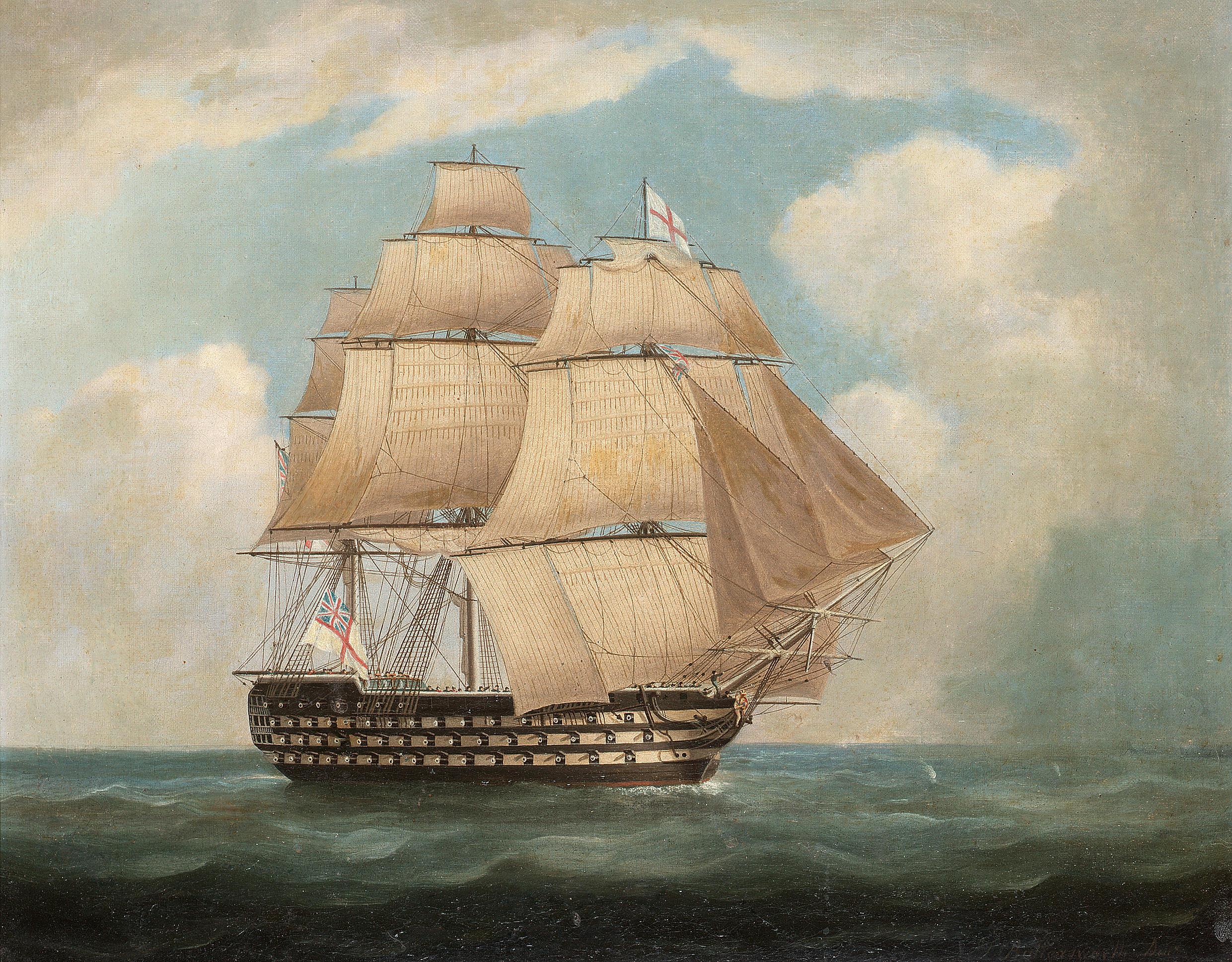 John Allcot Artist Oranje Hospital Ship Painting