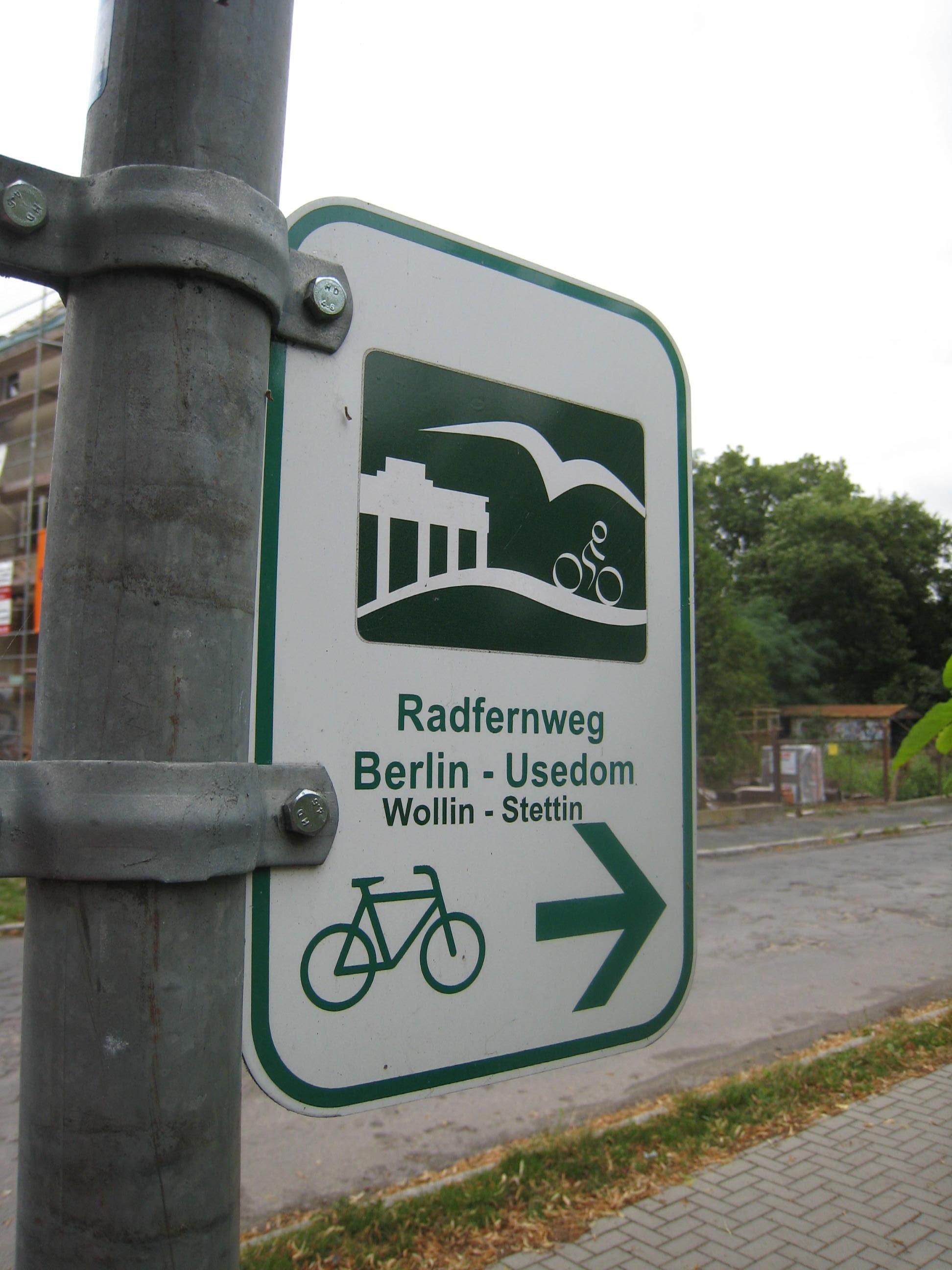 Radweg Berlin Usedom Karte.Radfernweg Berlin Usedom Reiseführer Auf Wikivoyage