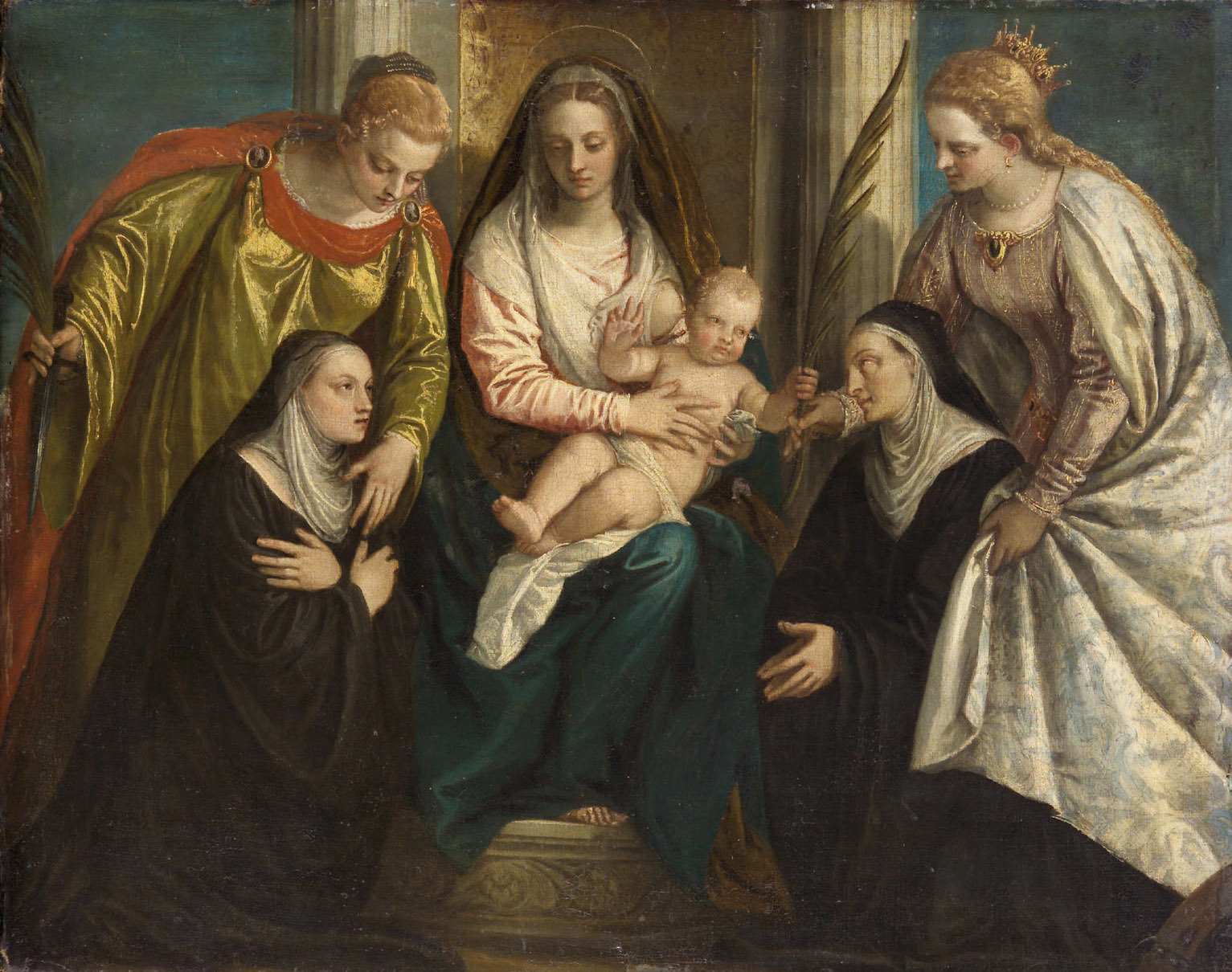 File:Veronese - Madonna and Child with Saints Lucy and Catherine and 2 Nuns GG 50.jpg