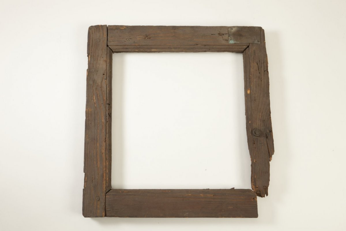 Spiegel Houten Rand : File vierkant houten raampje met geprofileerde rand vermoedelijk