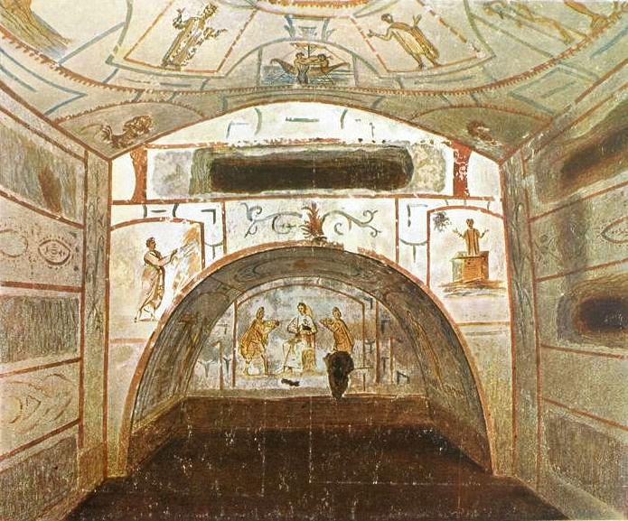 Imagini pentru Catacombele Marcelinus și Petrus