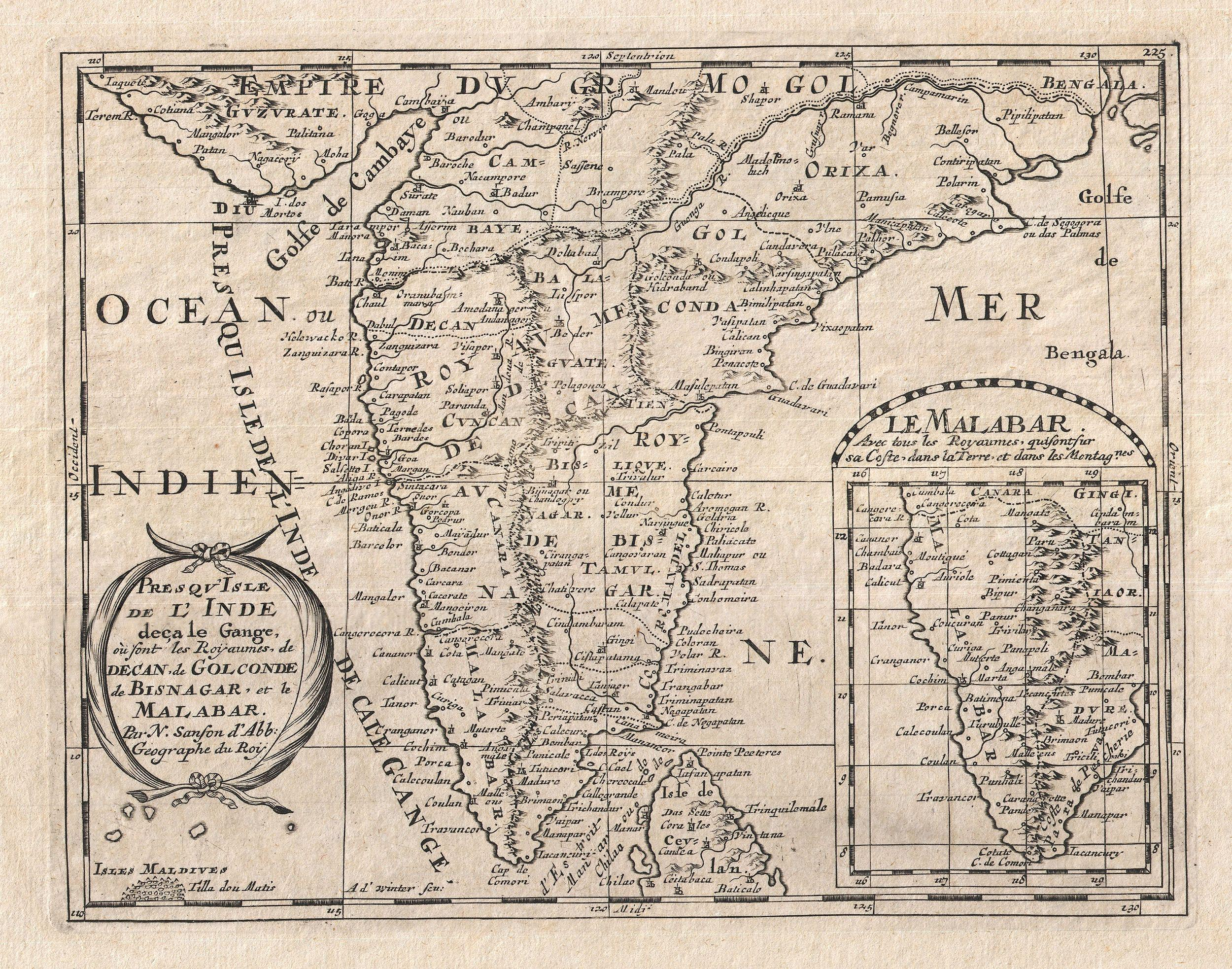 File:1652 Sanson Map of India - Geographicus - India-sanson-1652.