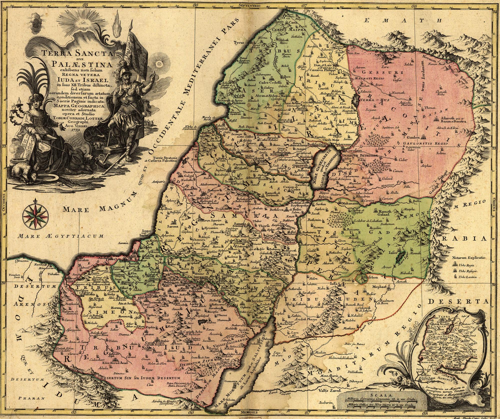 Depiction of Tierra Santa