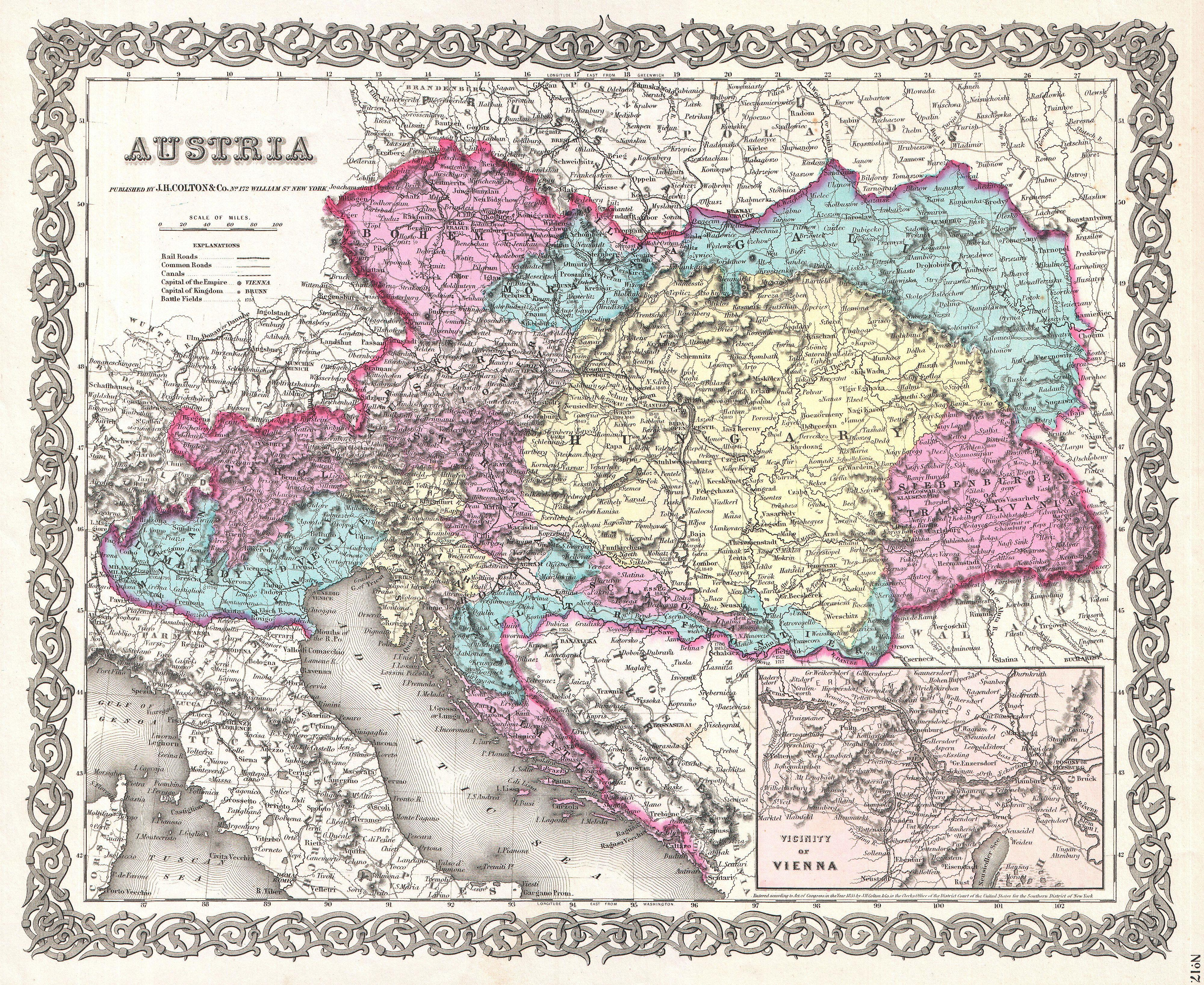 File1855 colton map of austria hungary and the czech republic file1855 colton map of austria hungary and the czech republic geographicus gumiabroncs Image collections