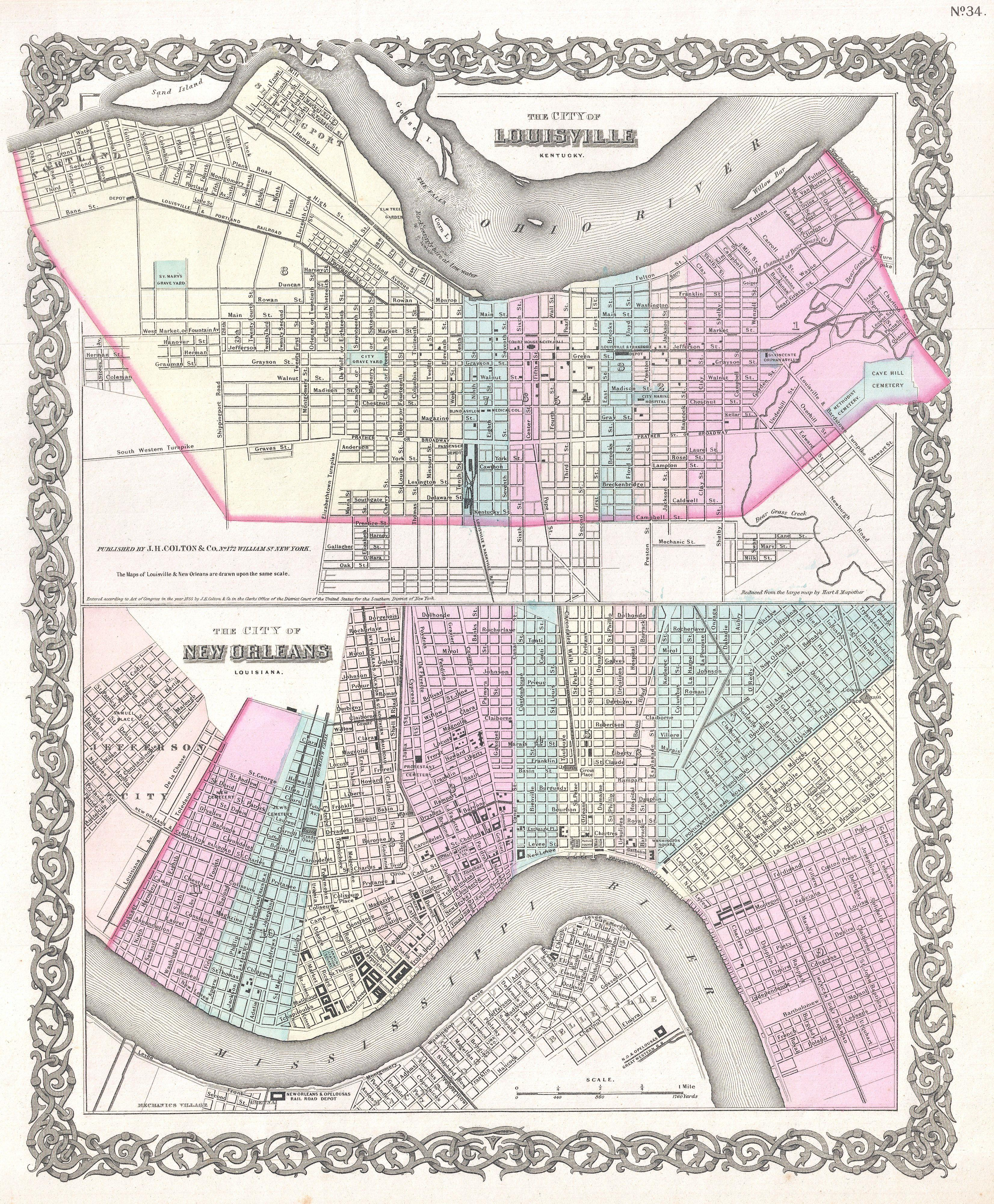 File:1855 Colton Plan or Map of New Orleans, Louisiana and ...
