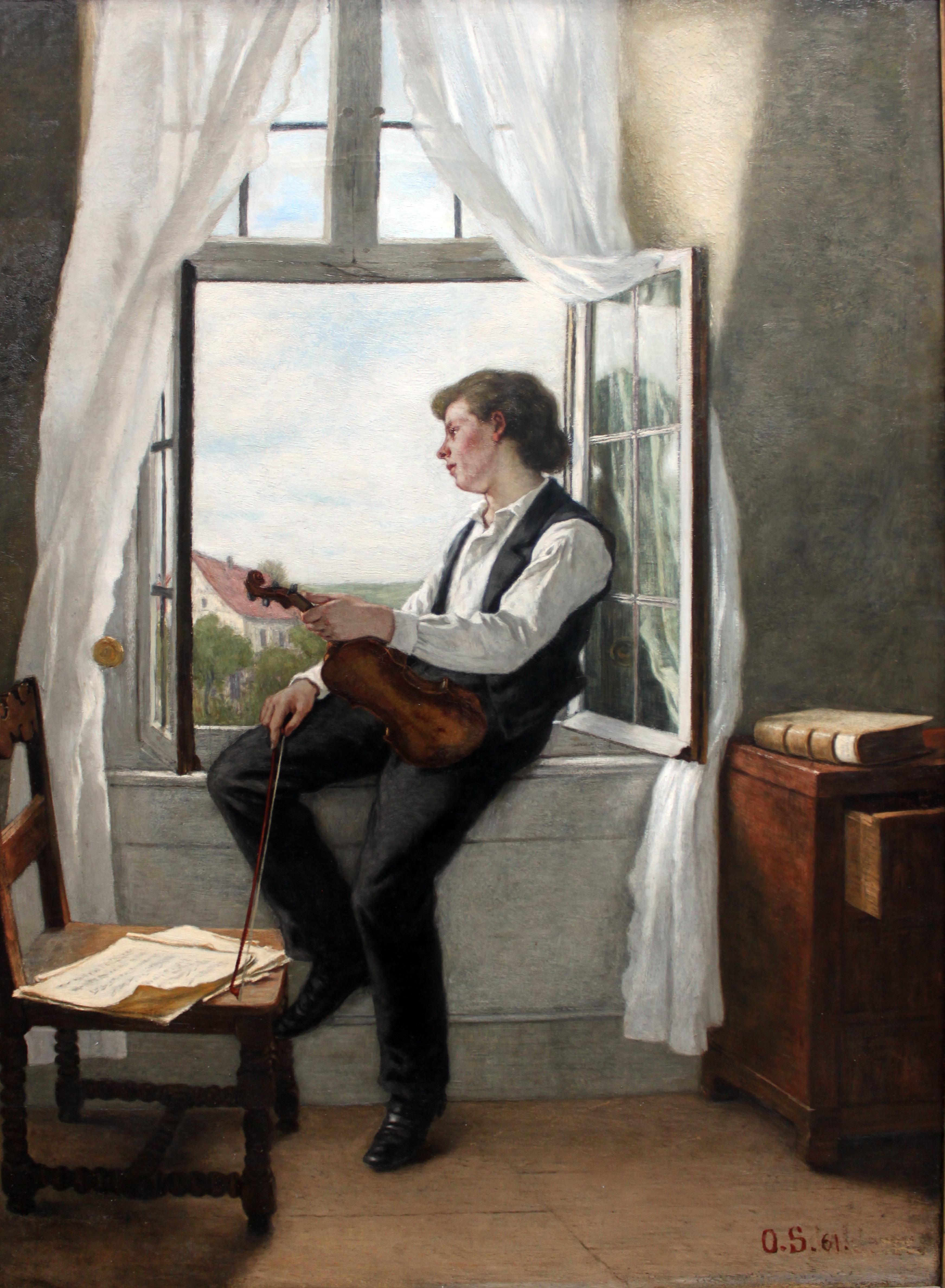 file 1861 scholderer der geiger am fenster anagoria jpg wikimedia commons. Black Bedroom Furniture Sets. Home Design Ideas