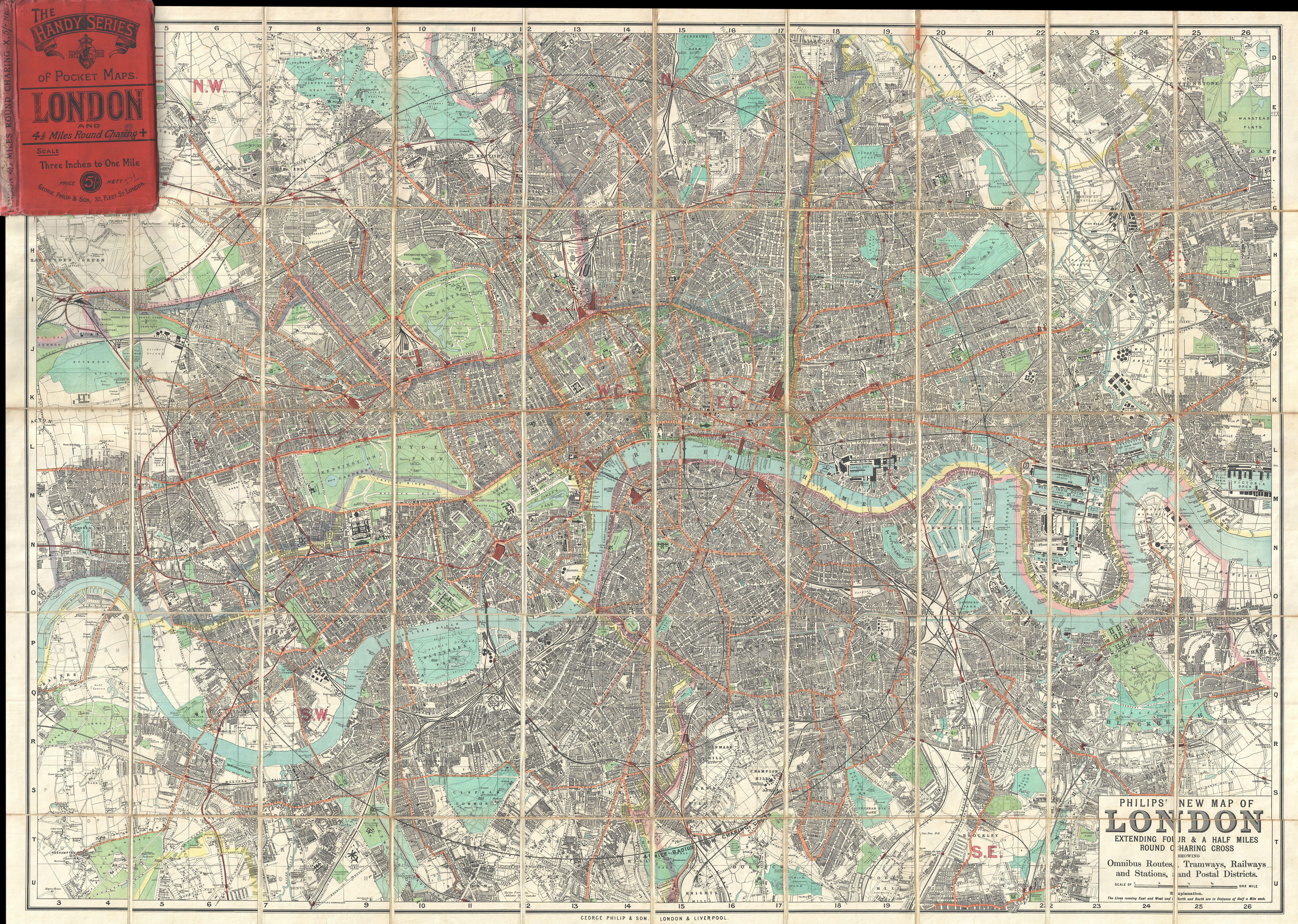England And London Map.File 1895 Philip Pocket Map Or Plan Of London England